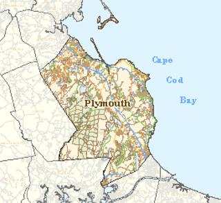 Small image of map of Plymouth