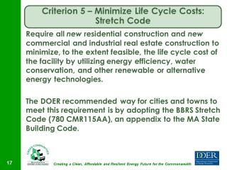Criterion #5 - Requires vote of Town Meeting.