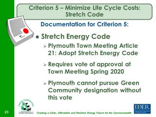 Criterion #5 is Crucial to become a Green Community.